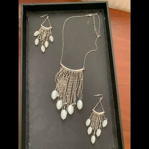 Fringe Necklace and earrings set